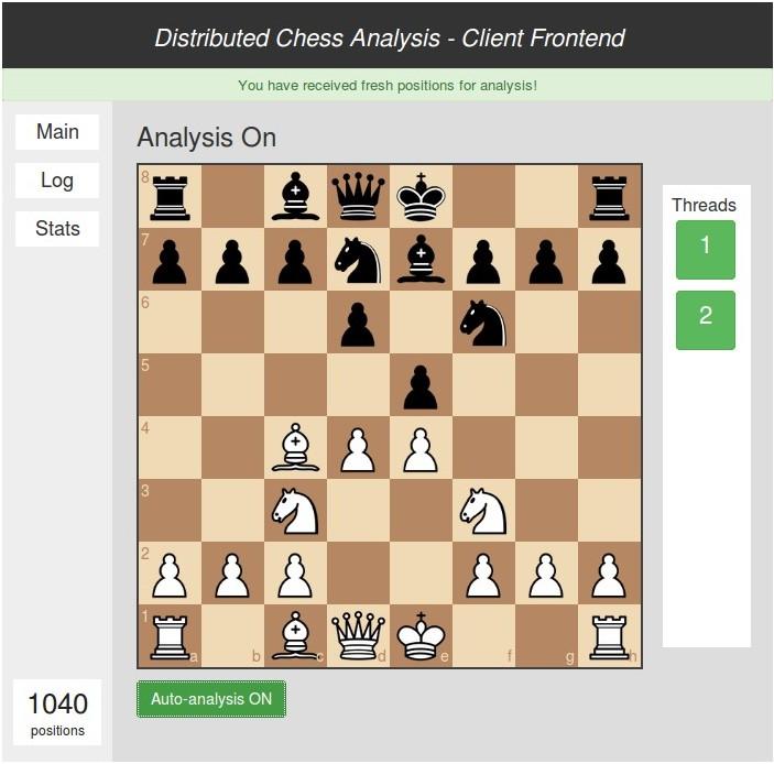 Hajautettu shakkipelien analysointi