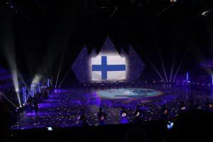 Bakun olympialaisten avajaisissa kaikki maat olivat näyttävästi esillä. Kuvassa on Suomen vuoro.