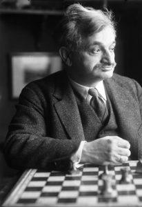 Dr. Emanuel Lascer, Ex-Schachweltmeister, Aufnahme am 19. M‰rz 1929