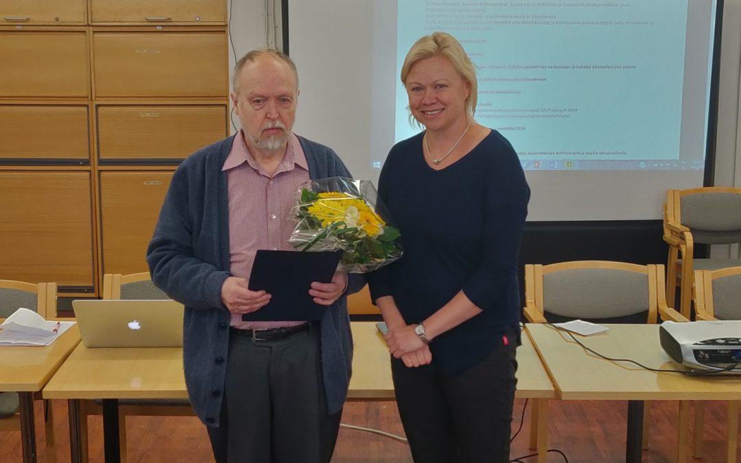 Veikko Valolle Alfred Kordelinin säätiön tunnustuspalkinto