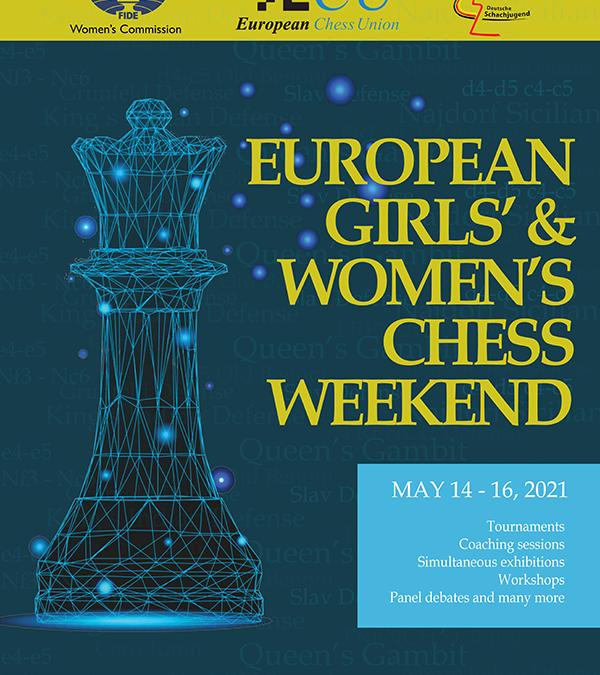 ECU:n naisten ja tyttöjen shakkiviikonloppu 14.–16.5.2021 verkossa